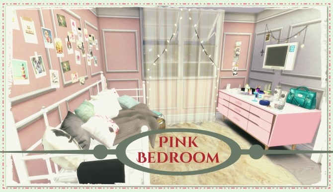Pink Bedroom at Dinha Gamer image 1688 670x387 Sims 4 Updates