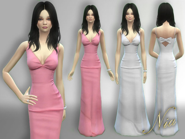 Sims 4 Katy Perrys Golden Globes Dress by Nia at TSR