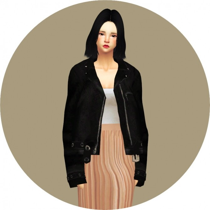 Acc Leather Jacket At Marigold 187 Sims 4 Updates