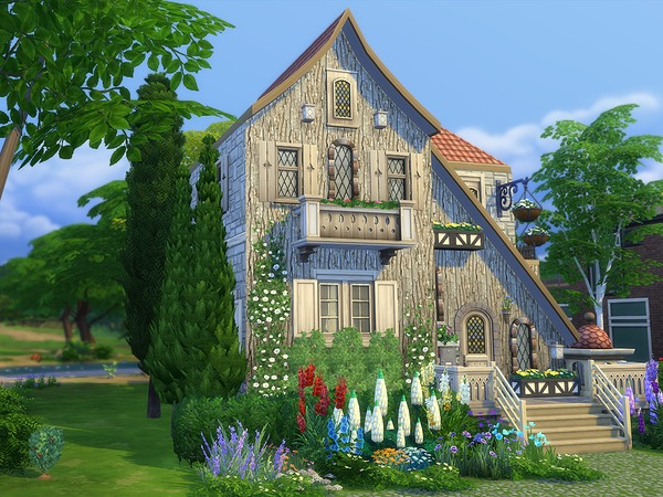 Sims 4 Clara Cottage by Ineliz at TSR