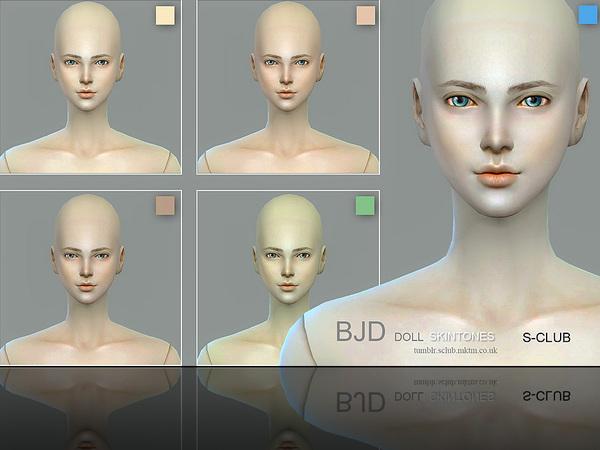 Sims 4 BJD Doll skintone 1.0 by S Club WMLL at TSR