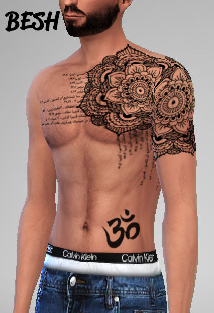 Sims 4 Tattoos for males at Besh