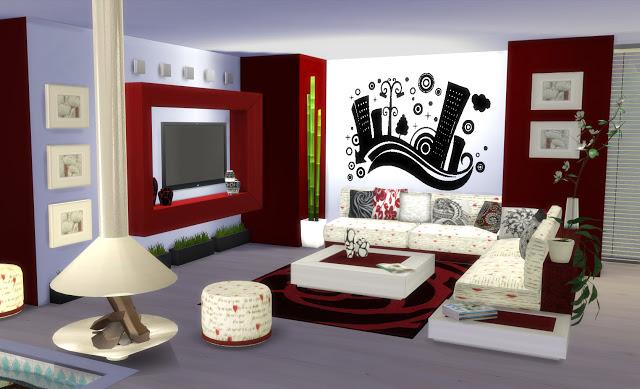 Sims 4 Altea Living by Mary Jiménez at pqSims4
