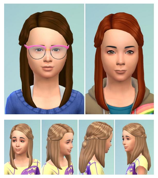 Sims 4 Little Ronja Hair at Birksches Sims Blog