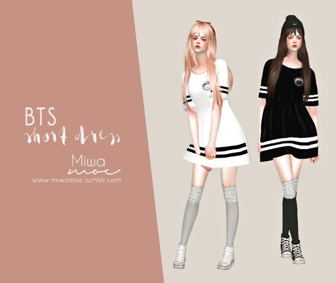 Sims 4 BTS Short Dress at Miwamoe