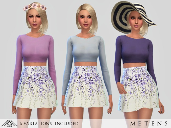 Sims 4 Violette Dress by Metens at TSR