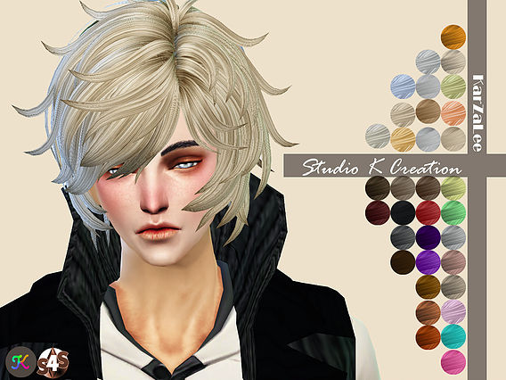 Sims 4 Anime Characters : Reiji animate hair at studio k creation sims updates