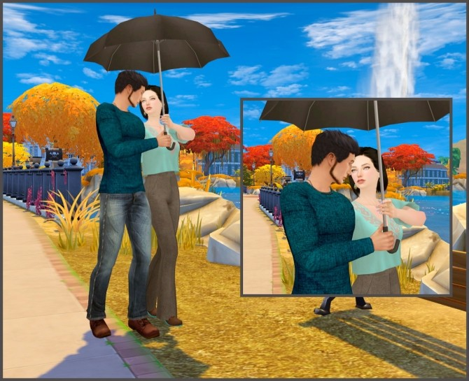 With umbrella couple poses at Rethdis love image 1853 670x545 Sims 4 Updates