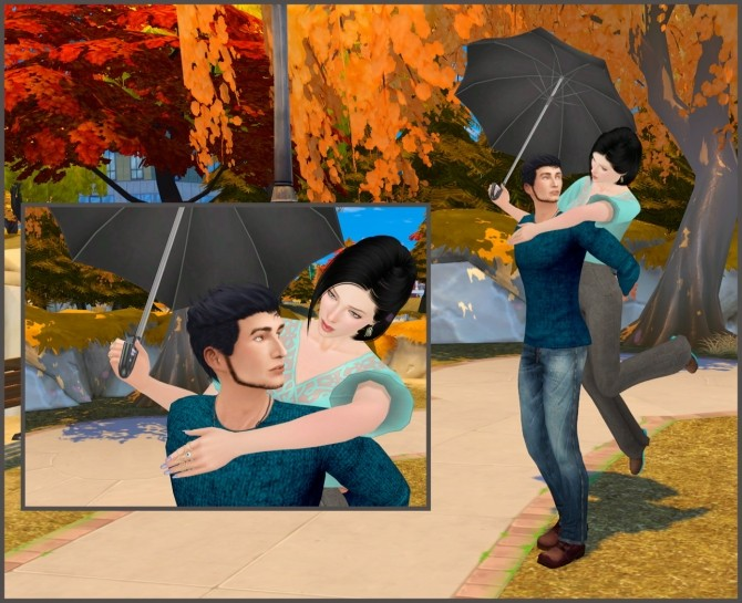 With umbrella couple poses at Rethdis-love » Sims 4 Updates