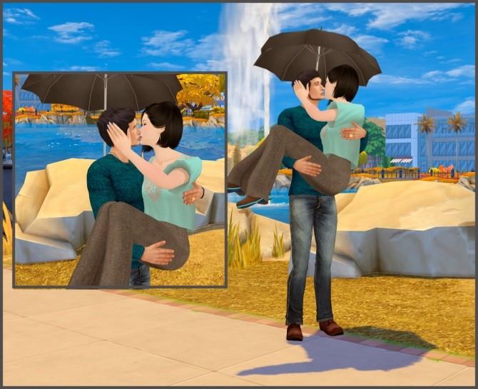 With umbrella couple poses at Rethdis love image 1875 670x545 Sims 4 Updates