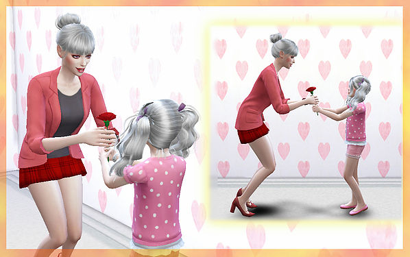 Sims 4 Give flowers poses at A luckyday