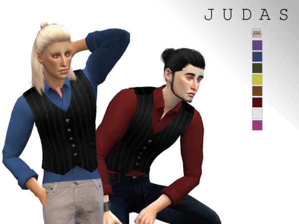 Judas Vest by SuperNerdyLove at TSR image 1910 Sims 4 Updates
