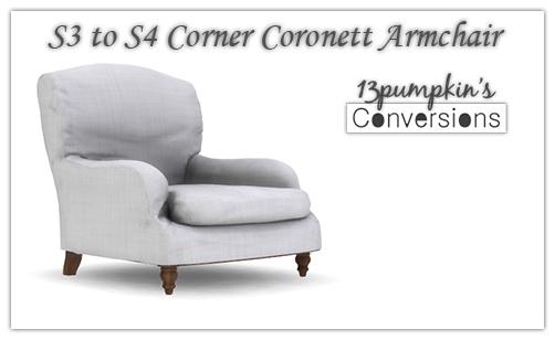 Sims 4 Corner Coronett Living Chair at 13pumpkin31