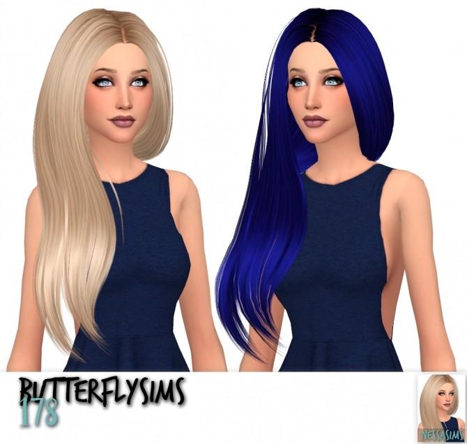 Sims 4 Butterflysims hair 164 + 178 + 185 retextures at Nessa Sims