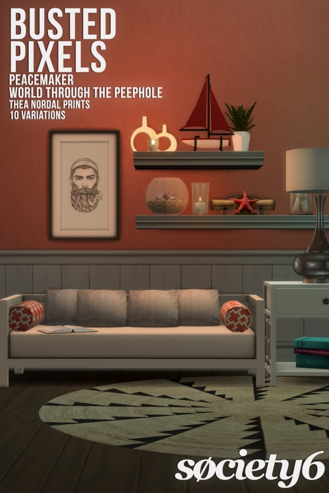 Peacemaker's Thea Nordal Prints Society6 at Busted Pixels image 1968 667x1000 Sims 4 Updates