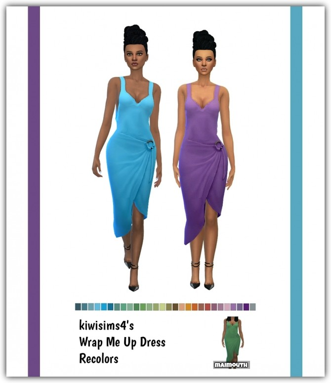 Wrap Me Up Dress Recolors at Maimouth Sims4 image 1986 670x775 Sims 4 Updates