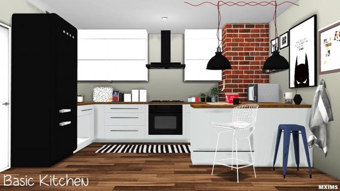 Basic kitchen update at mxims sims 4 updates for Kitchen all set
