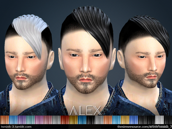 Sims 4 ALEX Hairstyle 3 by tsminh 3 at TSR