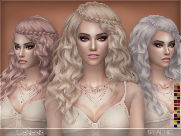 Sims 4 Genesis Female Hair by Stealthic at TSR