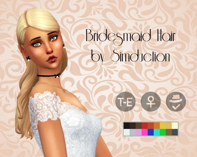Sims 4 Bridesmaid Hair at Simduction