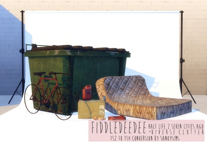 Sims 4 Fiddledeedee Half Life 2 Seven cities ago + clutter at Sanoy Sims