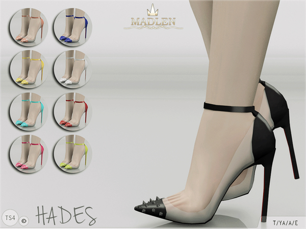 Madlen Hades Shoes by MJ95 at TSR image 2103 Sims 4 Updates