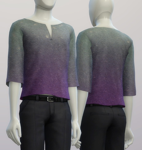 Sims 4 Over fit T shirt M shape neck 20 colors at Rusty Nail