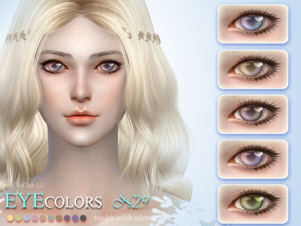 Eyecolor 29 by S Club LL at TSR image 2140 Sims 4 Updates