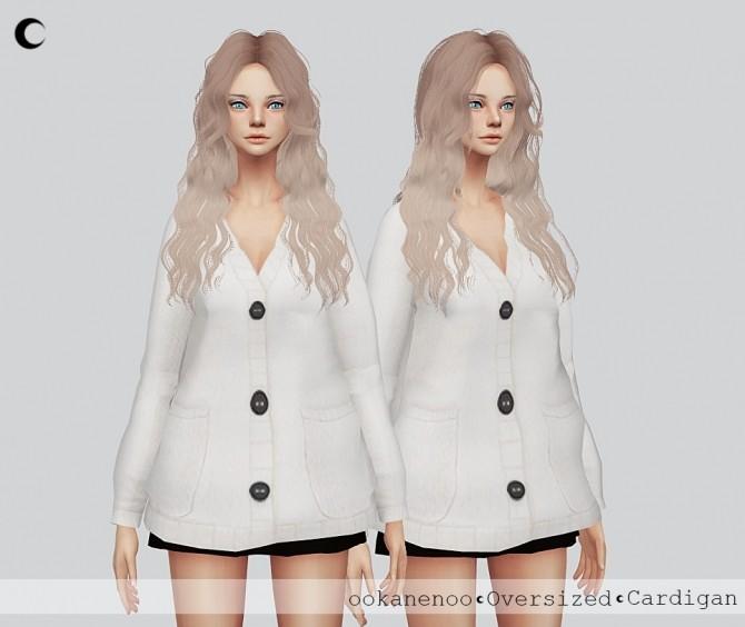TS4 Oversized Cardigan at Kalewa a image 2203 670x564 Sims 4 Updates