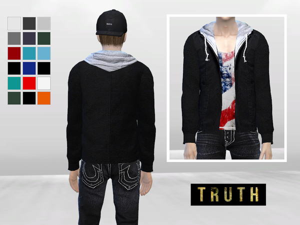 Sims 4 King Royce Hooded Jacket by McLayneSims at TSR