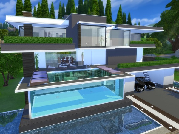 Modern serendia house by suzz86 at tsr sims 4 updates for Modern house plans sims 4
