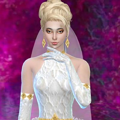 Sims 4 Wedding dress set at Trudie55