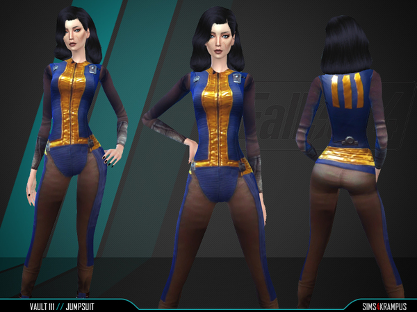 Vault 111 Jumpsuit by SIms4Krampus at TSR image 2320 Sims 4 Updates
