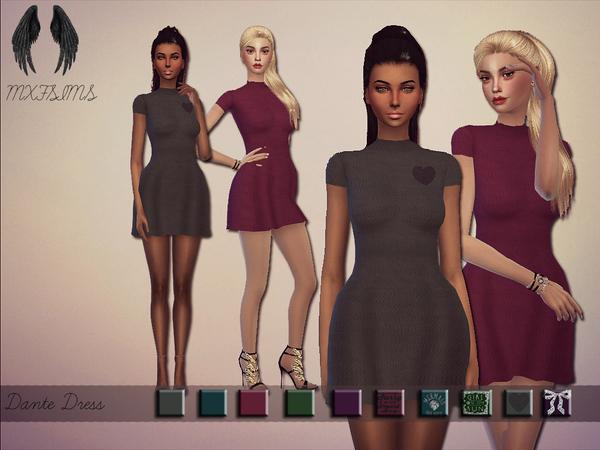 Sims 4 Dante dress by mxfsims at TSR
