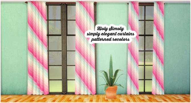 Holy simoly simply elegant curtains patterned recolors at Lina Cherie image 2335 670x363 Sims 4 Updates