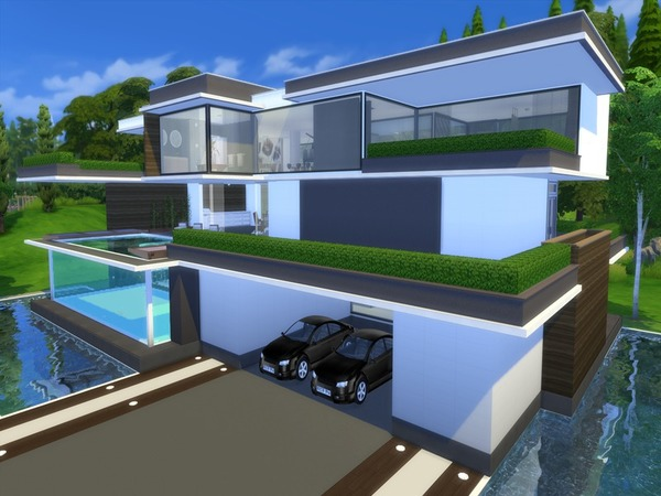 Modern Serendia house by Suzz86 at TSR image 2340 Sims 4 Updates