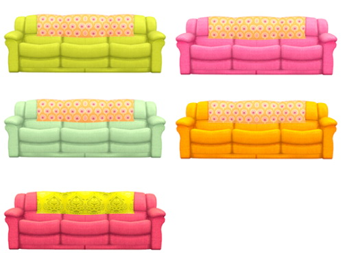 Sims 4 Bootlegged sofa conversion at Lina Cherie