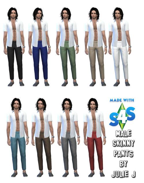 Sims 4 Male Skinny Pants at Julietoon – Julie J