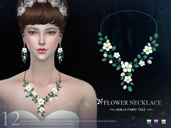 Sims 4 Necklace N12 by S Club LL at TSR