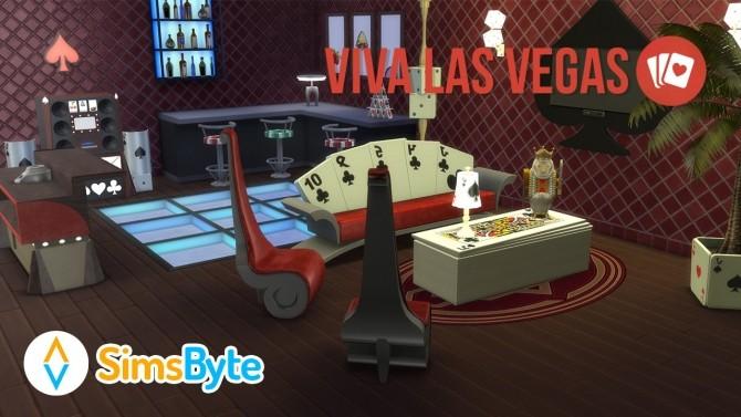 Sims 4 Viva Las Vegas set at Sims Byte