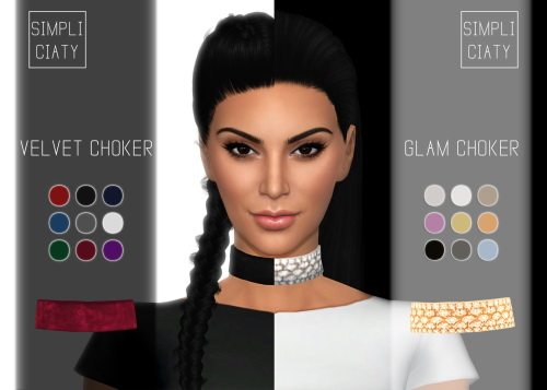 Velvet & Glam Choker at Simpliciaty image 2502 Sims 4 Updates