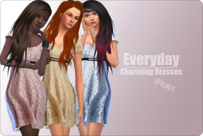 Charming Dresses at xMisakix Sims image 2503 670x449 Sims 4 Updates