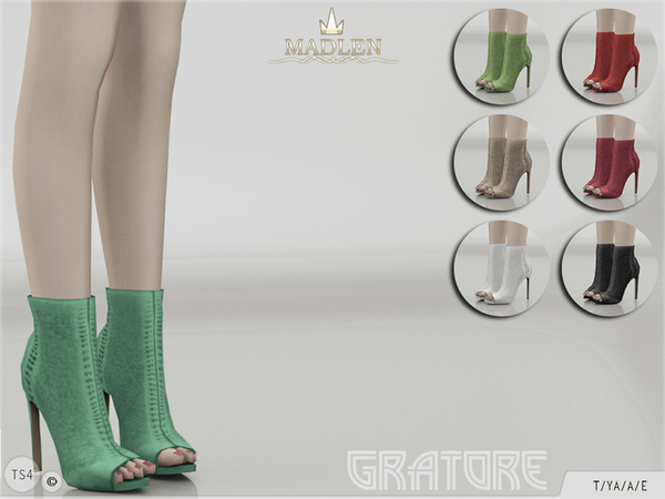 Sims 4 Madlen Gratore Shoes by MJ95 at TSR