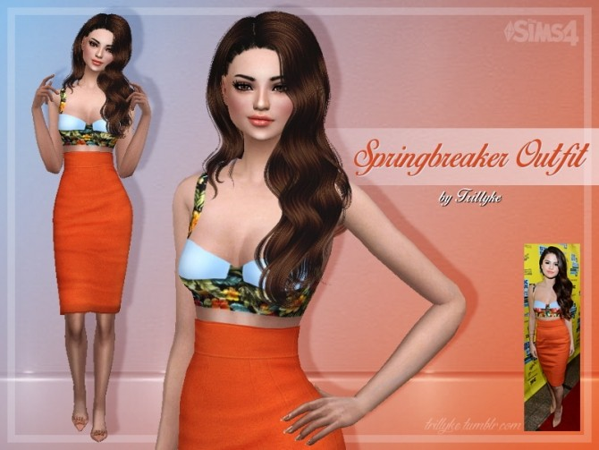 Sims 4 Springbreaker Outfit at Trillyke