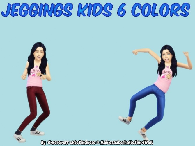 KIDS JEGGINGS 6 COLORS at Naddi image 2542 670x503 Sims 4 Updates