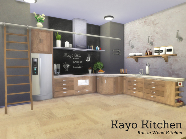 Sims 4 Kayo Kitchen by Angela at TSR