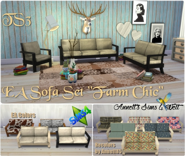 TS3 EA Sofa Set Farm Chic Conversion & Recolors at Annett's Sims 4 Welt image 2622 Sims 4 Updates