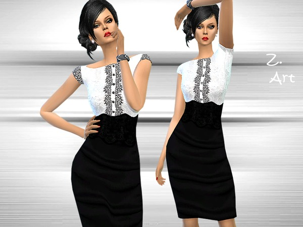 Sims 4 Business Style outfit by Zuckerschnute20 at TSR