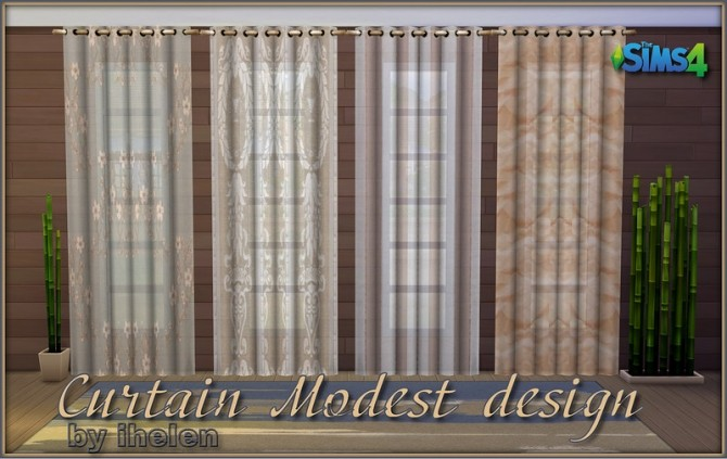 Sims 4 Curtain Modest design by ihelen at ihelensims