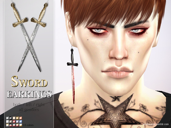 Sword Earrings by Pralinesims at TSR image 2713 Sims 4 Updates